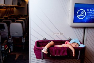 Learn tips for getting babies to sleep on long haul flights