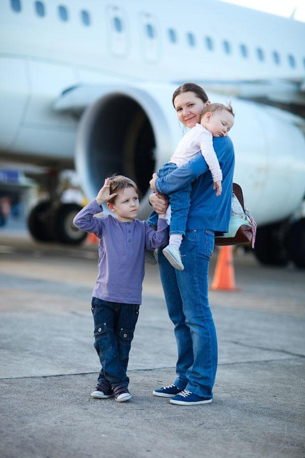 international family vacations flying with kids long haul