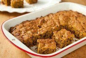 Date and Pecan Pumpkin Squares