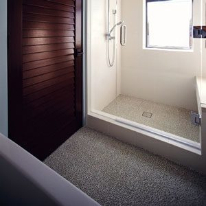 Eco-Friendly Bathroom Remodel: Recycled Glass Pebbles for Showers & More