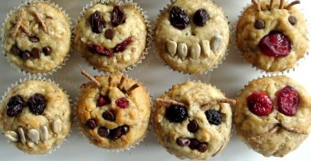 Muffins With Faces 2 Healthy Kids Snacks: Mini Muffins With Happy Faces