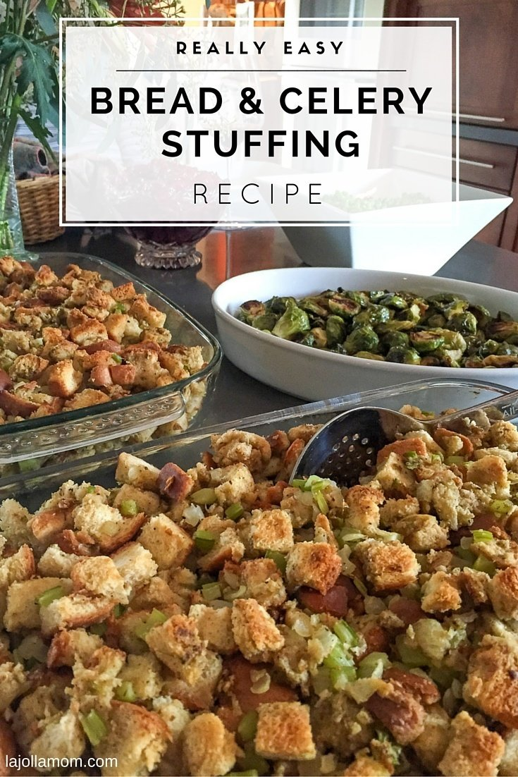 Try this easy bread and celery stuffing recipe for Thanksgiving or any day.
