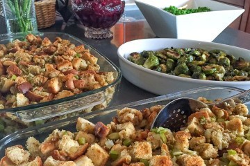 An easy bread and celery stuffing recipe for Thanksgiving and any other day. My family loves it.