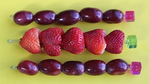 Healthy Preschool Snacks - Fruit on Sticks