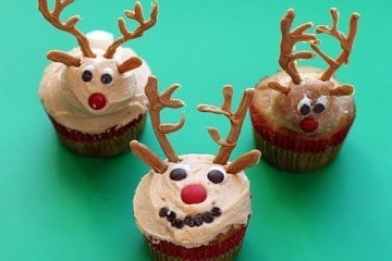 How to Make 3 Different Reindeer Cupcakes