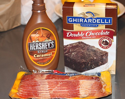 Bacon browning ingredients (minus whipped cream)