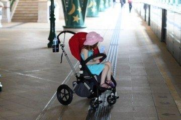 Stroller at Hong Kong Disneyland MTR
