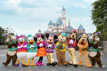 Characters in Chinese New Year Costumes at Hong Kong Disneyland