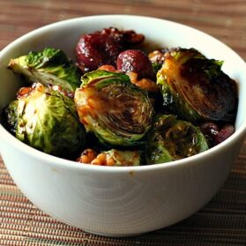 Easy Thanksgiving Dish: Roasted Brussels Sprouts With Grapes