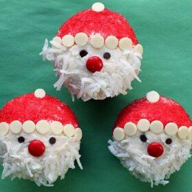 Easy Santa Claus Cupcakes Recipe