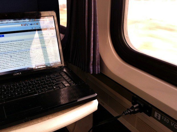 Amtrak AC Electrical Outlet