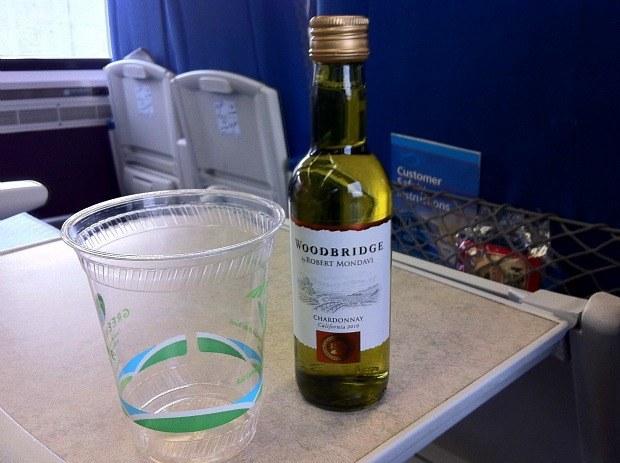 Amtrak Business Class Wine