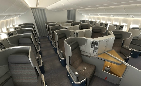 New American Airlines Business Class Seats 777