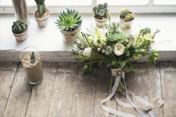 How to make a succulent bouquet for a vase or wedding.