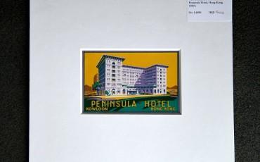 Vintage Luggage Label Peninsula Hotel