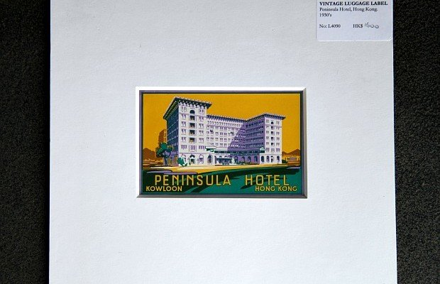 Vintage Luggage Label Peninsula Hotel