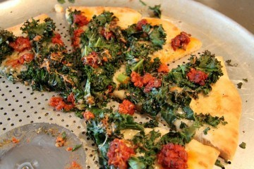 Kale, Chorizo and Manchego Pizza Recipe
