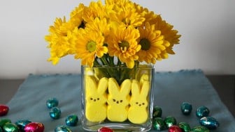 Peeps Easter Flower Arrangement Kids