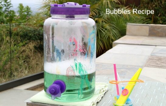 Easy Homemade Bubbles Recipe