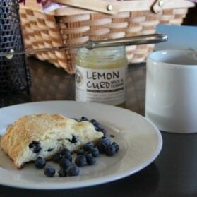 An Easy Blueberry-Themed Gift Basket Idea With Scones