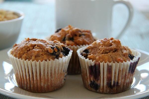 Healthy Shredded Wheat Blueberry Muffins