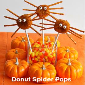 Kids Recipes: Easy Donut Spider Pops