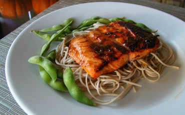 Salmon mustard brown sugar glaze recipe soba