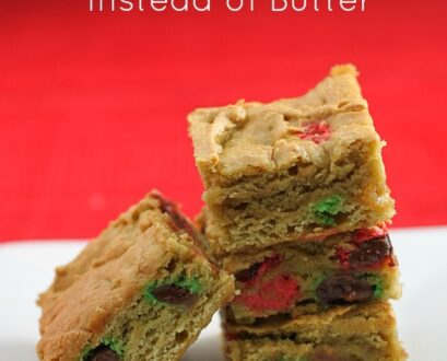 Baking With Avocados Instead Of Butter: An M&M Blondie Recipe