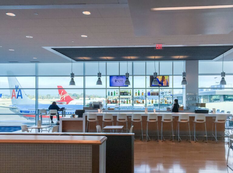 Inside the Airspace Lounge at San Diego International Airport