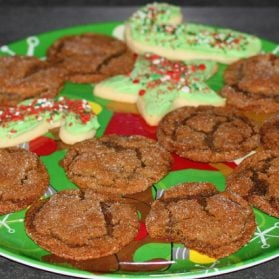 Last Minute Holiday Recipe:  Molasses Sugar Cookies