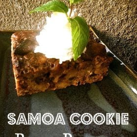 Girl Scout Cookie Recipes: Samoa Bread Pudding