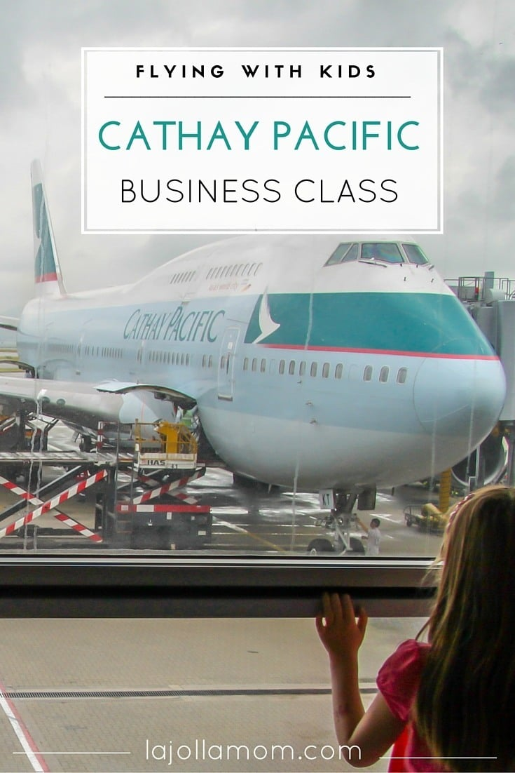 Learn the best tips for flying Cathay Pacific in business class with kids including where to sit, inflight dining, amenities and more.