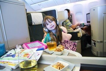 Cathay Pacific business class long haul with kids