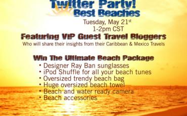 Caribbean best beaches twitter party
