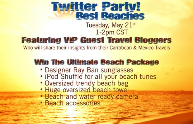 Caribbean best beaches twitter party