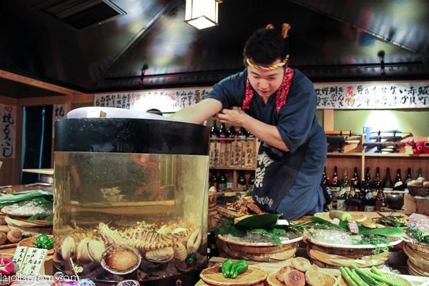 Robataya Roppongi Tokyo Robatayaki  Live Fish