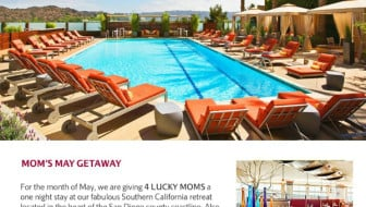 San Diego Marriott Moms May Getaway