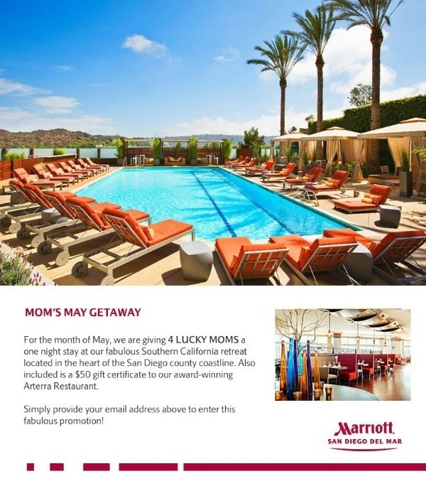 San Diego Marriott Del Mar Celebrates Moms In May San Diego Hotels