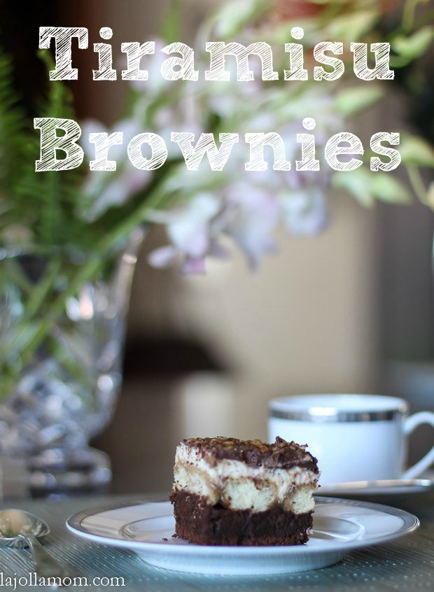 Post image for Tiramisu Brownie Recipe (With Optional Raspberry Preserves)