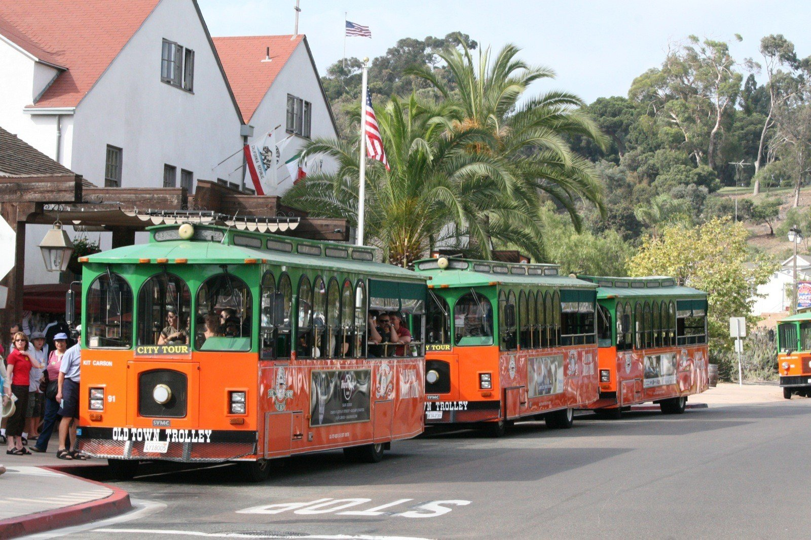 With a Hometown Pass, San Diego residents can ride Old Town Trolley Tours complimentary with a paying adult.
