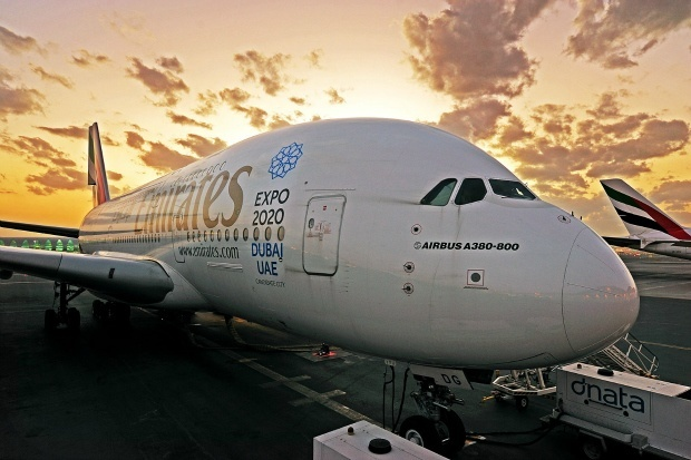 Emirates A380 to LAX