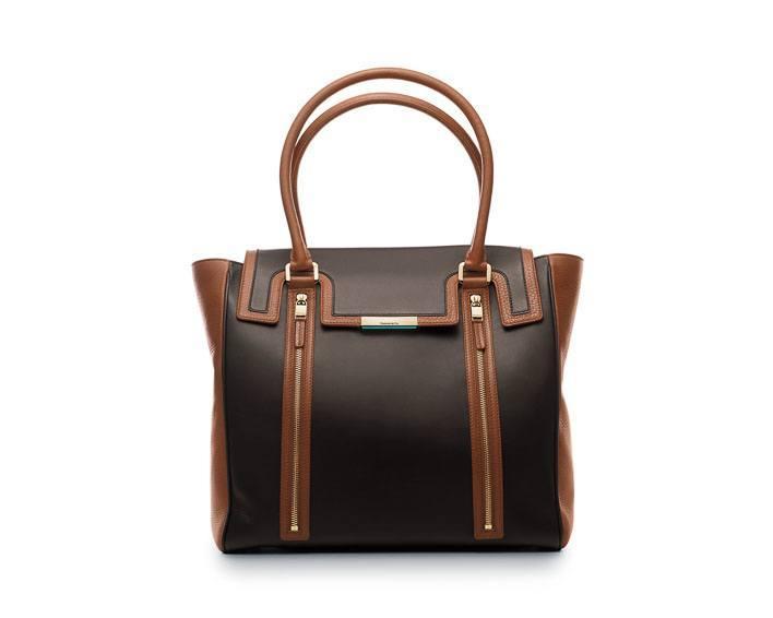 Tiffany Celia tote in espresso/cognac leather - $1,950