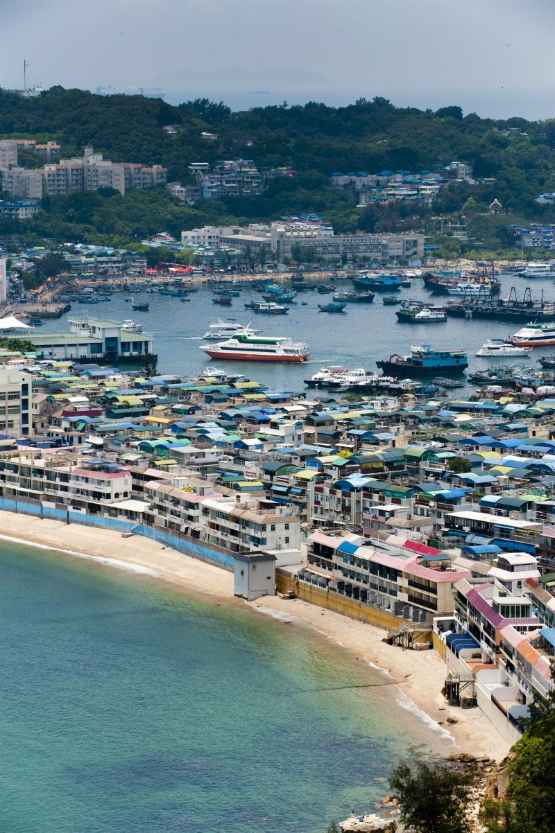 Take a ferry to an outlying island when visiting Hong Kong with kids. Pictured here is Cheung Chau, a fishing village and fun day trip.