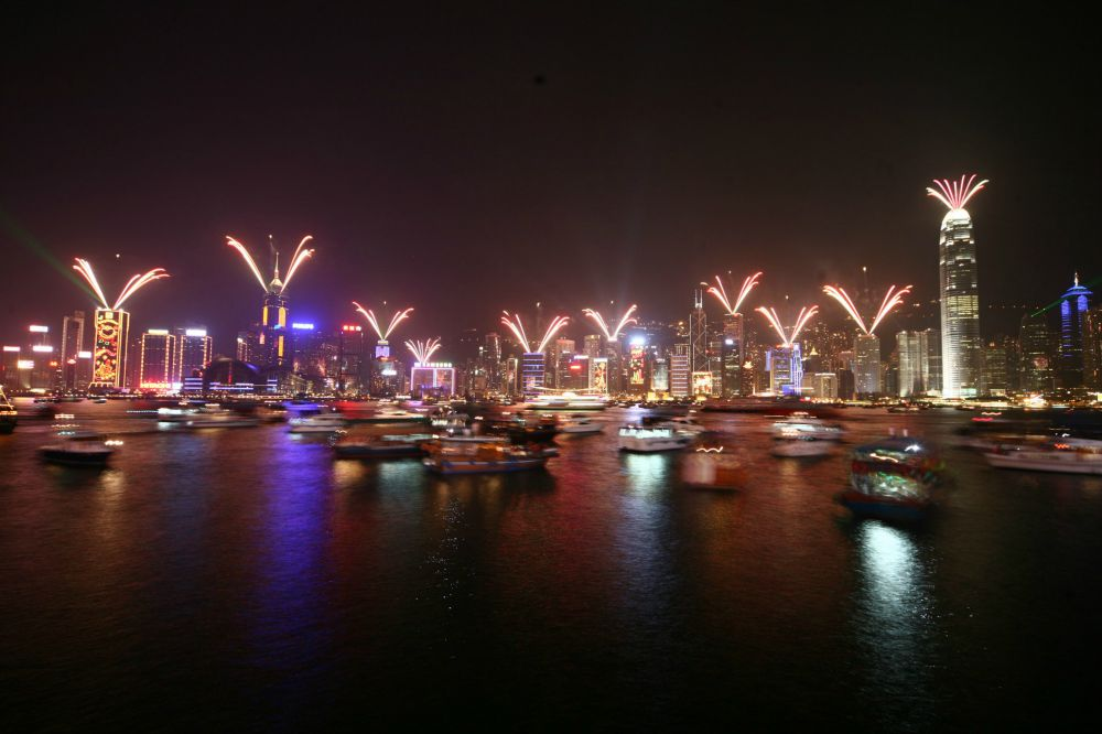 Watch the nightly Symphony of Lights laser show when in Hong Kong with kids.