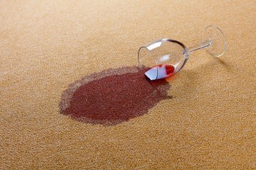 how to clean wine spills on carpet and other upholstery