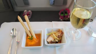 Japan Airlines Dreamliner Executive Class Food - Amuse-Bouche