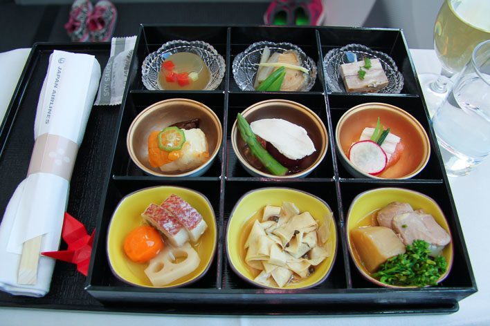 Japan Airlines Dreamliner Executive Class Food - Kobachi bowls