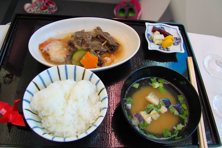 Japan Airlines Dreamliner Executive Class Food - Dainomono