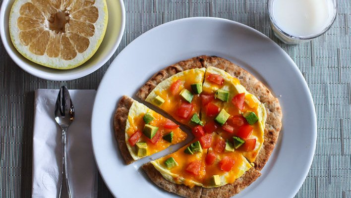 Kids Recipe- Microwave Egg Pizza for Breakfast