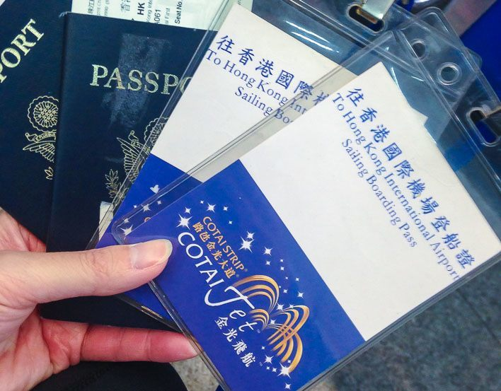 Hong Kong to Macau Taipa Ferry Terminal on Cotai Jet - Boarding Pass